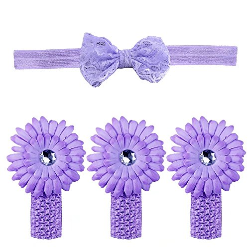 Bear Fashion Baby Girls Rose Headband Head Wrap Knotted Hair Band - 5