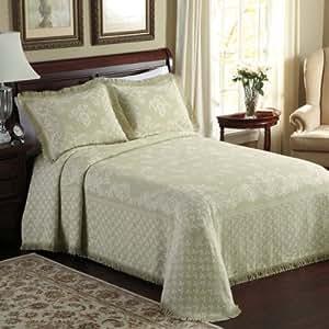 Lamont Home Savannah Bedspread, King, Sage