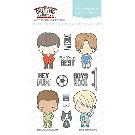 Amazon the greeting farm mini remix boys clear stamps arts the greeting farm mini remix boys clear stamps m4hsunfo