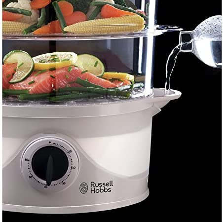 Russell Hobbs 21141 Your Creations Cuiseur vapeur 3 étages Blanc