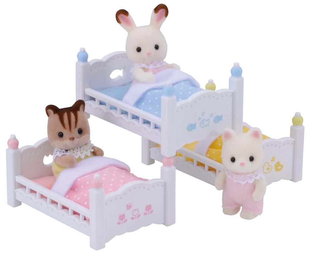amazon com calico critters triple baby bunk beds toys u0026 games