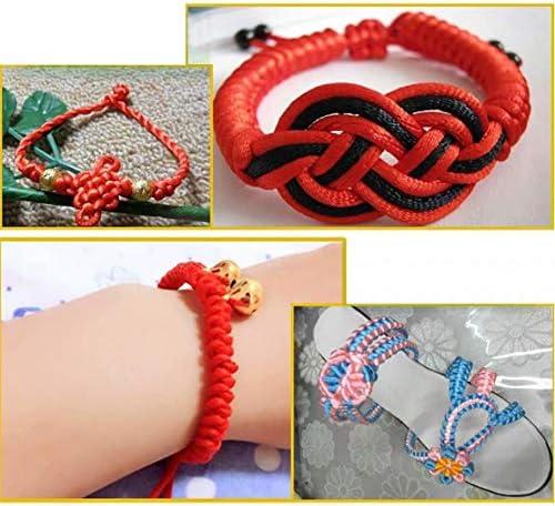 Vivianbuy Brick 2.5mm Dia Satin Cord 109 Yard Rattail Silk Cord Nylon Satin Trim Cord for Necklace Shoelaces DIY Making