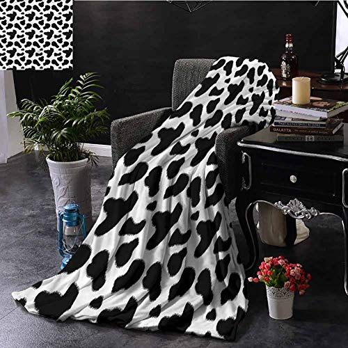 Cheap Elxmzwlob Weighted Blanket Cow Print Beautiful Fur Throw Blanket 47