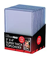 "Ultra-Pro 3 x 4 ""SUPER THICK"" Baseball Card Toploaders (Pack of 25 - 75 Thickness)"