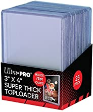 Ultra Pro 3 X 4 Super Thick Baseball Card Toploaders, Holds 75PT Cards (Pack of 25)