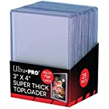 """Ultra-Pro 3 x 4""""SUPER THICK"""" Baseball Card Toploaders (Pack of 25-75 Thickness)"""