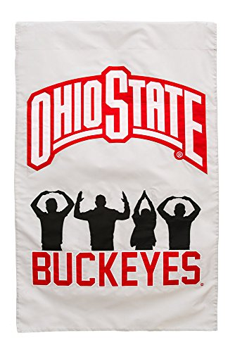 Team Sports America Ohio State Applique House Flag, 29 x 43 inches