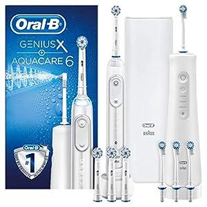 Oral-B Aquacare Pro-Expert hydropulseur Et Oral-B Genius X 20000 Brosse À Dents Électrique