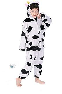UMIPUBO Pijama Animal Niña Unisexo Cosplay Traje Disfraz Niña Animal  Pijamas Onesies Ropa de Dormir Halloween 37b9d3bf7092