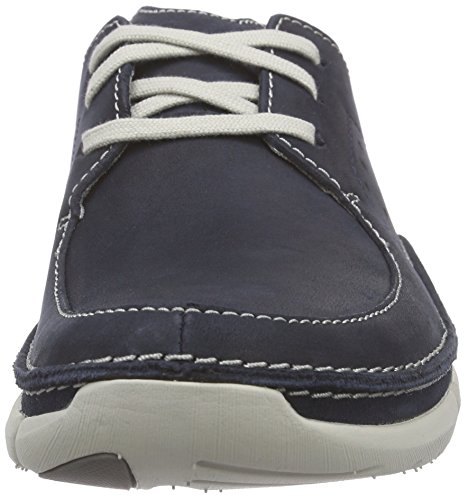 Clarks Trikeyon Fly - Zapatos de cordones derby Hombre Azul (Navy Leather)