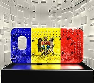 Funda Carcasa para Galaxy S6 Edge Bandera MOLDAVIA 06