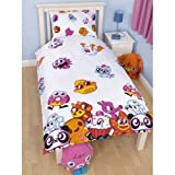 Childrens/Kids Moshi Monsters Reversible Single Quilt/Duvet Cover Bedding Set (Twin Bed) (White)