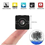 Mini Spy Camera, Crazepony Hidden Camera Waterproof 1080P Full HD FOV155 Nanny Cam with Night Vision and Motion Detection for Home Office Outdoor