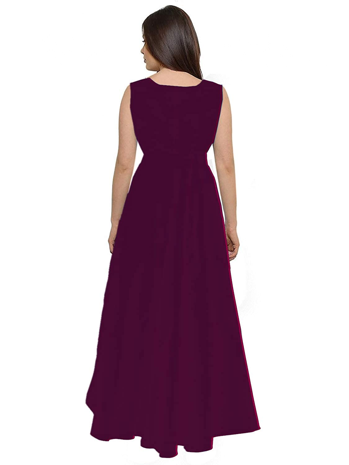 2246941e604 PARI FASHION Women s Readymante Taffeta Silk Stitched Gown Party Wear Gown  Letest Disine Gown Fancy Gown For Women  Amazon.in  Clothing   Accessories