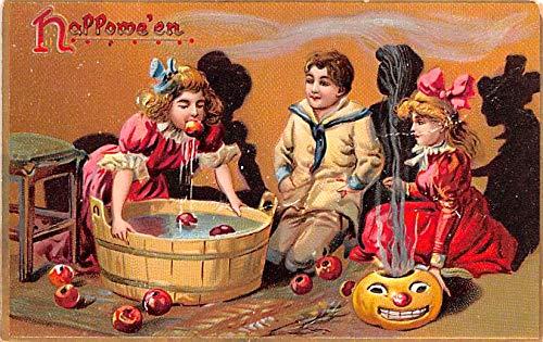 Halloween Post Card Old Vintage Antique Raphael Tuck Publishing Writing on back