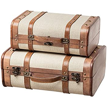 Amazon.com  SLPR Decorative Suitcase with Straps (Set of 2 7f7c08cc43a97