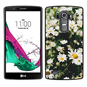 [Neutron-Star] Snap-on Series Teléfono Carcasa Funda Case Caso para LG G4 [Daisies Summer Field Sun Green Nature]