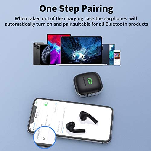 VEATOOL Wireless Earbuds,Bluetooth Headphones with USB-C Suport Wireless Charging Case,Waterproof 30H Play Back in Ear Bluetooth Earphones with Microphones/Touch Control