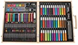 Generic NV_1008002960_YC-US2 Casedio 131-Piece Deluxe iece Portable e Art Art Set With With Art Studio, Case Wood Case Portabl