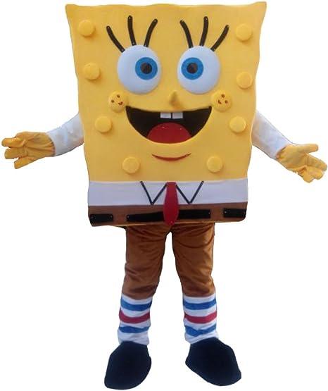 cosplaydiy Unisex disfraz de Bob Esponja, diseño de mascota ...