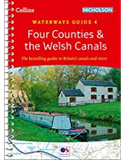 Four Counties & the Welsh Canals: Waterways Guide 4 (Collins Nicholson Waterways Guides)