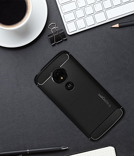 Spigen Rugged Armor Moto E5 Play Case with Flexible and Durable Shock Absorption with Carbon Fiber Design for Motorola Moto E5 Play (2018) - Black by Spigen (Image #9)