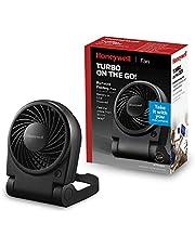 Honeywell Turbo on the Go! ventilator (klein, draagbaar, opvouwbaar, persoonlijk, USB) HTF090E