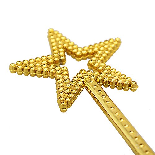 - AKOAK Star Wand,13 Inches Gold Fairy Princess Angel Wand