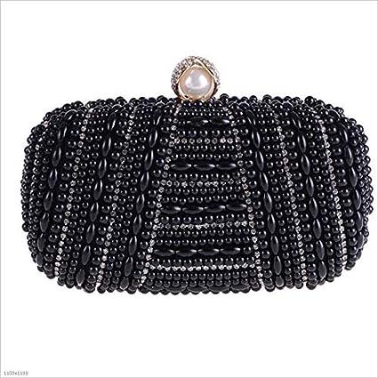 Mindruer Cartera de Mano, Bolso para la Cena Bolso de Banquete con Perlas de Diamantes