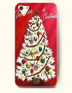 OOFIT iPhone 5 5s Case - Merry Xmas A Christmas Tree In Red Background