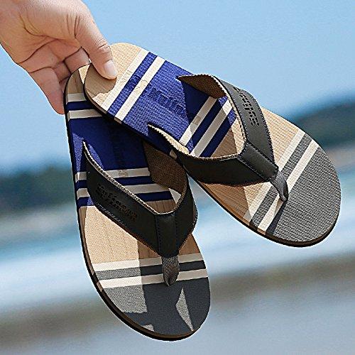 Xing Lin Sandalias De Hombre El Hombre Arrastrando Las Zapatillas De Playa Hombres Antideslizante Zapatillas Para Hombres Verano Hombre De Zapatillas blue