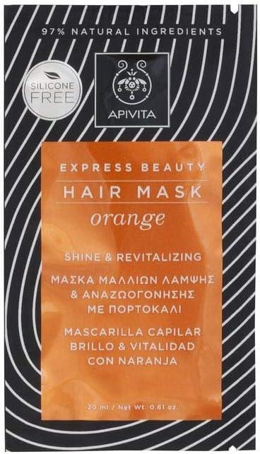 Apivita - Mascarilla capilar brillo y vitalidad naranja & miel