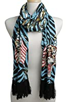 Ed Hardy Women's Soft Knit Warm Long Scarf Leopard Animal Printed Colors