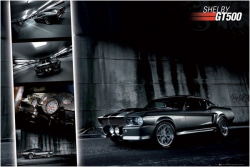 (Ford Shelby Mustang GT500 - Poster (Size: 36'' x 24'') Photography Poster Print, 36x24)