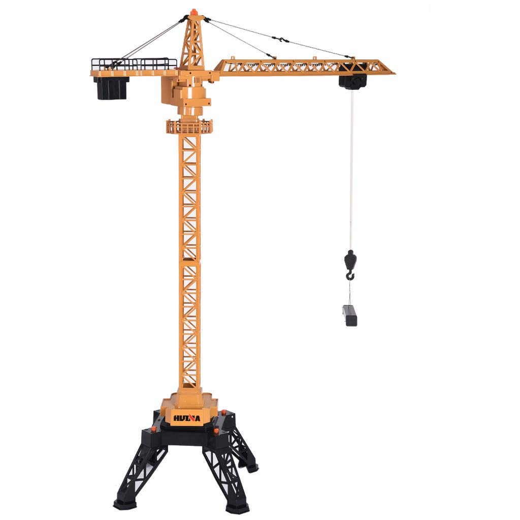 Roisay Construction Vehicle Series - Simulation Toys 1585 1/14 12CH Alloy Tower Crane Engineering Vehicle RC Car Multi-Function Toy American Warehouse Fast Logistics