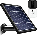 Solar Panel Compatible with Blink Indoor Outdoor XT Security Camera, Waterproof Power Continuously, Adjustable Mount, 12ft/3.6m Cable (Cam Not Included)(Black)
