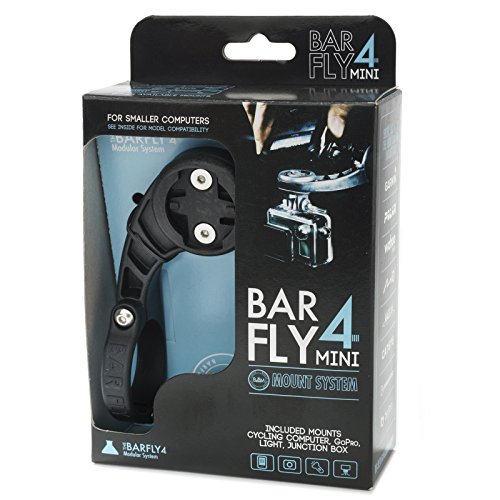 Bar Fly 4 Mini Mount for Smaller Computers, Black. Garmin, Polar, Bryton, Cateye ()