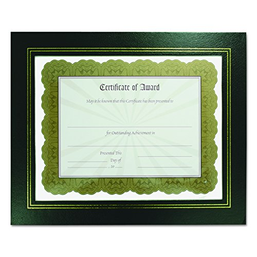 NuDell 21202 Leatherette Document Frame, 8-1/2 x 11, Black (Pack of Two)