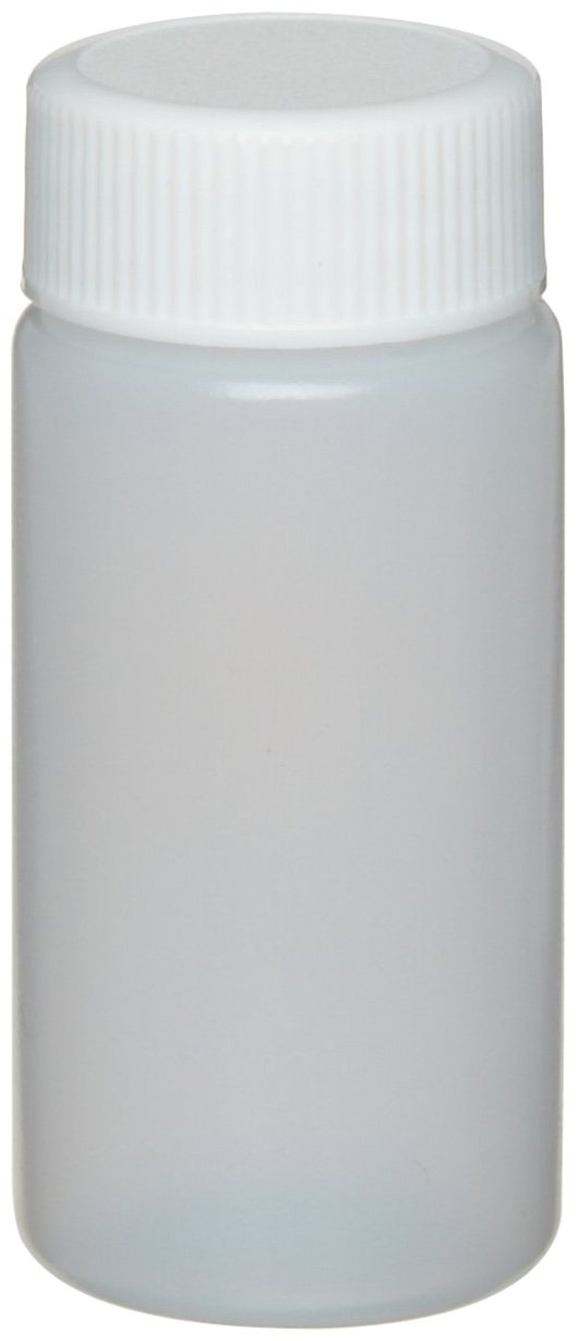 Wheaton 986700 HDPE 20mL Liquid Scintillation Vial, with Polypropylene Foamed Polyethylene Lined Screw Cap Attached (Case of 500) by Wheaton