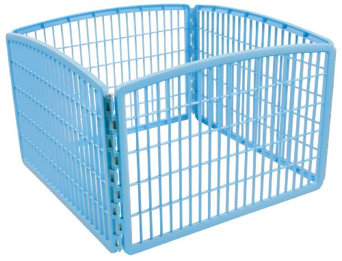 IRIS 24'' Exercise 4-Panel Pet Playpen without Door, Blue