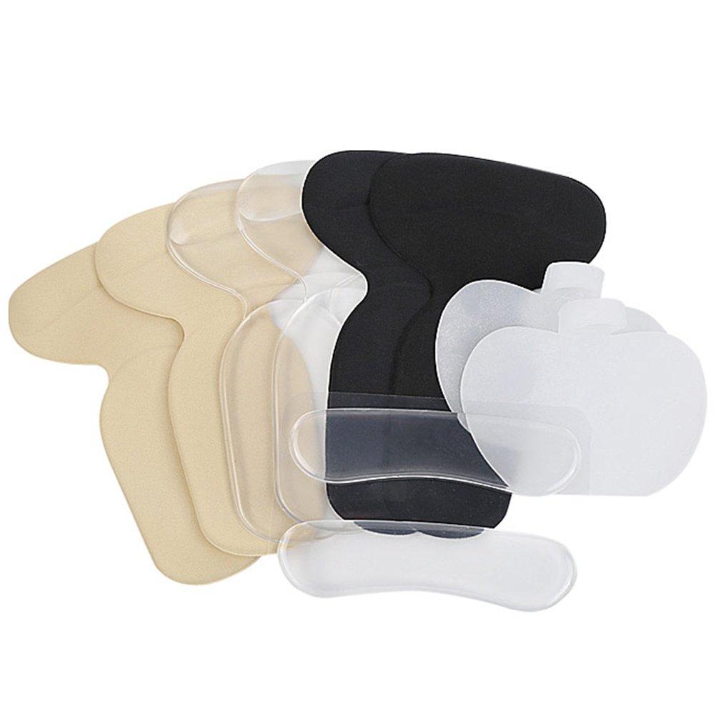 LUOEM Chaussures Talon Silicone Gel Auto-Adhésif Talon Inserts Semelles Set Coussin Doublure Protecteur 5 Pcs R577MVCT081MHC11RDLW57