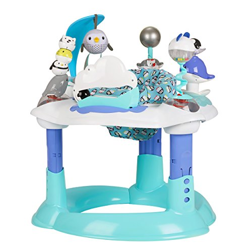 Evenflo Exersaucer Bounce and Learn, Polar Playground (Deluxe Rocker Cars Disney)