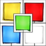 PBL Color Correction Gels 33''x34'', Primary Lighting Filter Gel Pack of 5, Includes Diffusion Gel Steve Kaeser Photogrpahic Lighting & Accessories