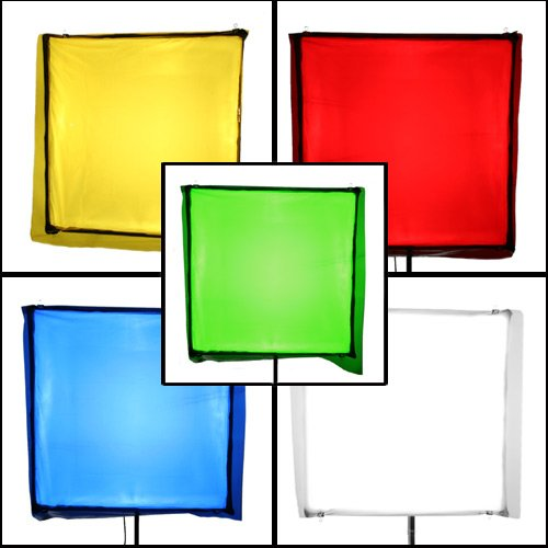 PBL Color Correction Gels 33''x34'', Primary Lighting Filter Gel Pack of 5, Includes Diffusion Gel Steve Kaeser Photogrpahic Lighting & Accessories by PBL