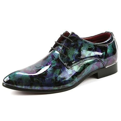 Wangxyan Zapatos de Traje de Charol para Ocasiones Formales ...