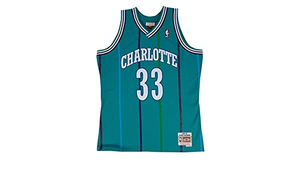23c2f335437 Amazon.com   Mitchell   Ness Alonzo Mourning Charlotte Hornets Swingman Jersey  Teal   Sports   Outdoors