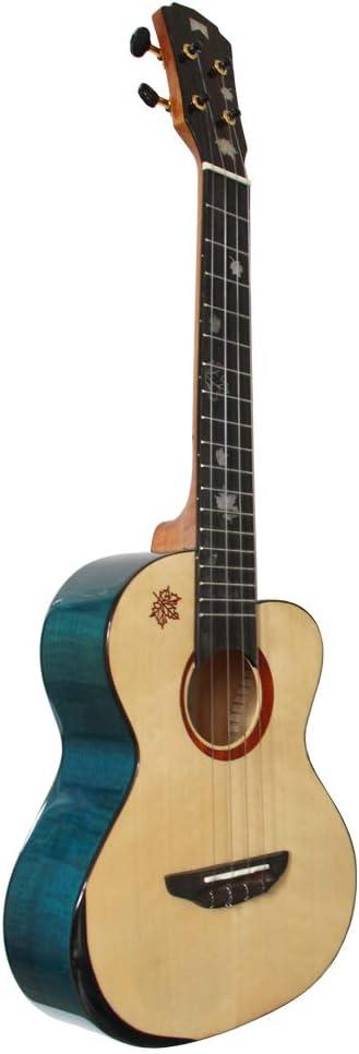 Mr.mai MDT - Ukelele tenor (66 cm, acabado brillante, con estuche rígido), color azul: Amazon.es: Instrumentos musicales