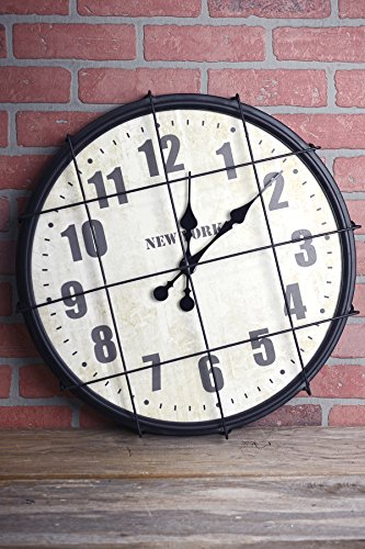 Ella Elaine New York Cage Wall Clock 21 (Elaine Wall Clock)