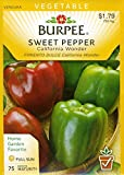 Burpee 64527 Pepper, Sweet California Wonder Seed Packet