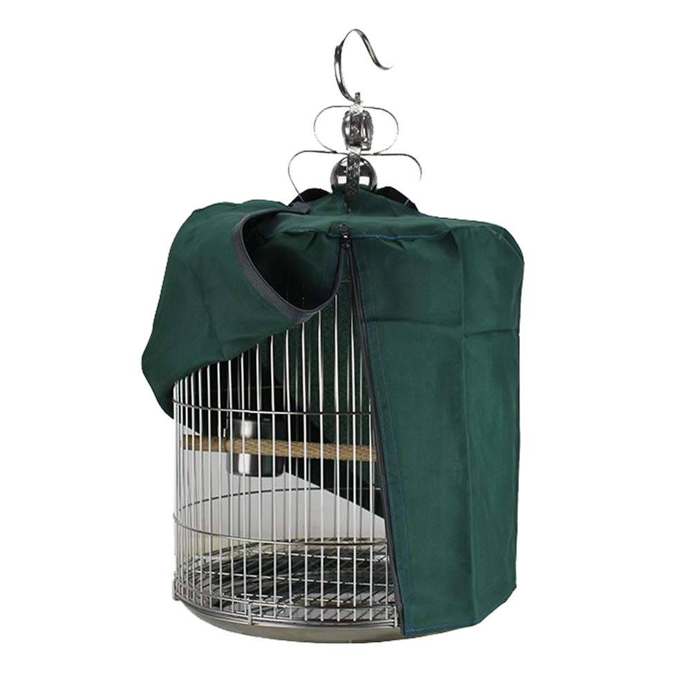 SYOOY 15 Universal Bird Cage Cover Shade Windproof Cloth Green - Bird Cage Not Included